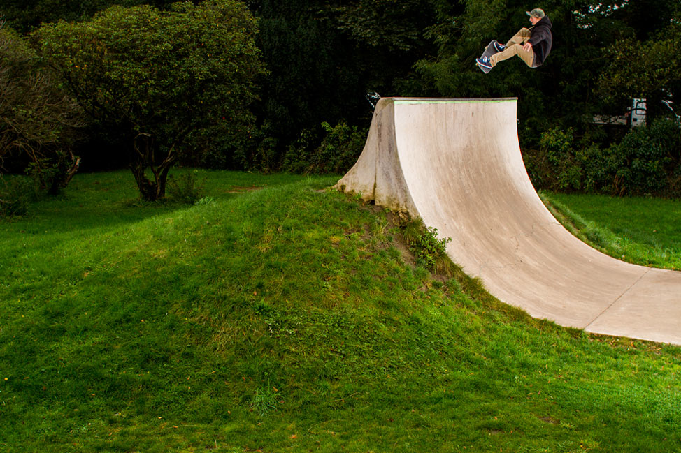 Sam Pulley - Frontside Tailgrab. Photo by Andrew Horsley